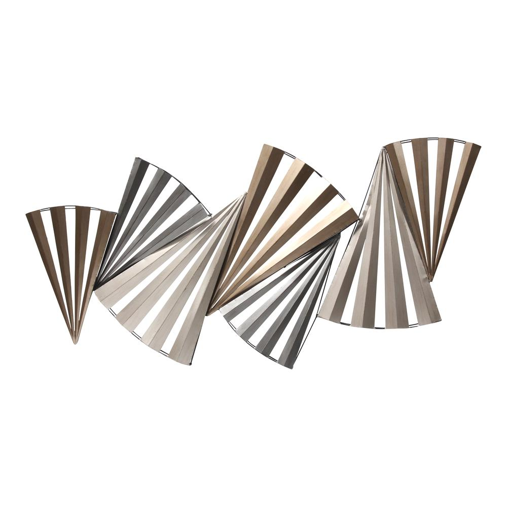 Modern Accordian Pleat Metal Wall Decor - 380771. Picture 1