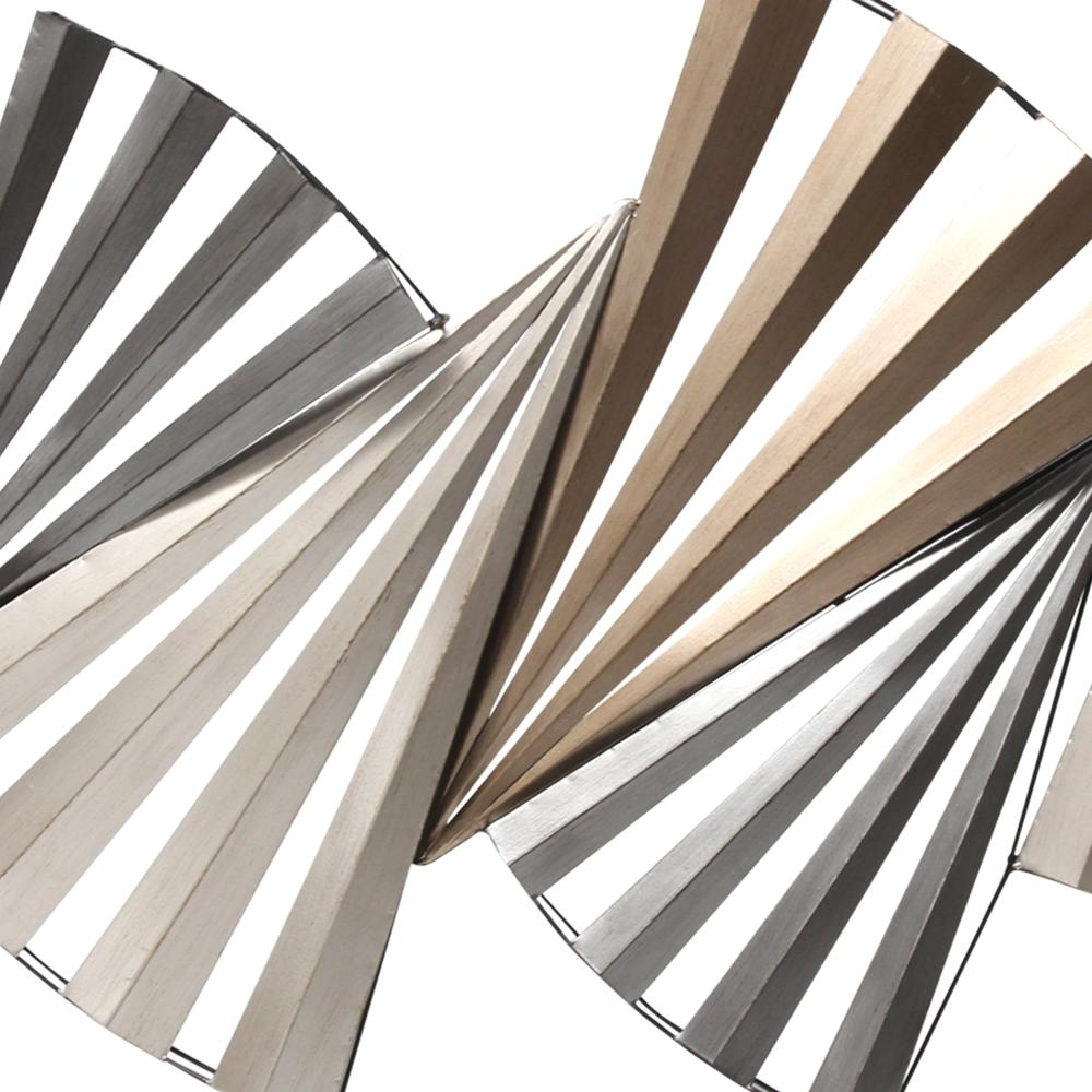 Modern Accordian Pleat Metal Wall Decor - 380771. Picture 3
