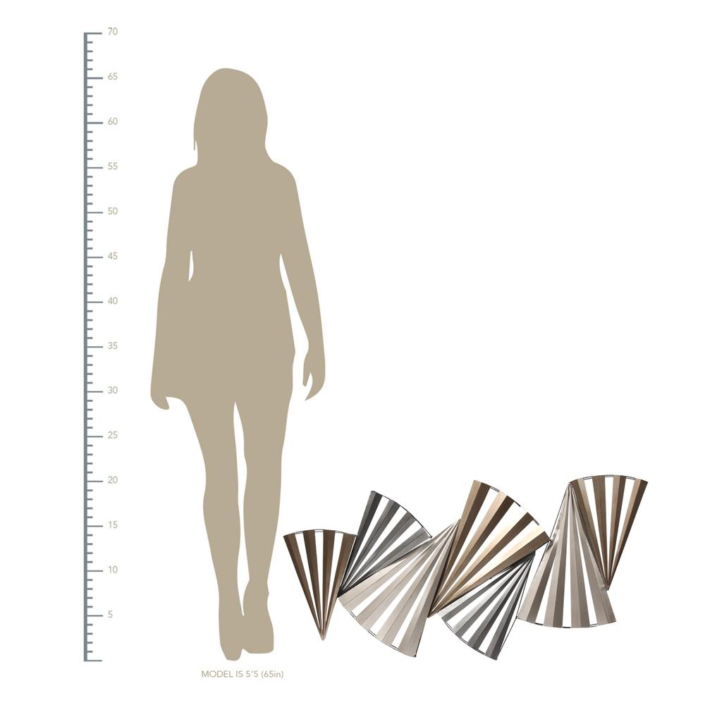 Modern Accordian Pleat Metal Wall Decor - 380771. Picture 4