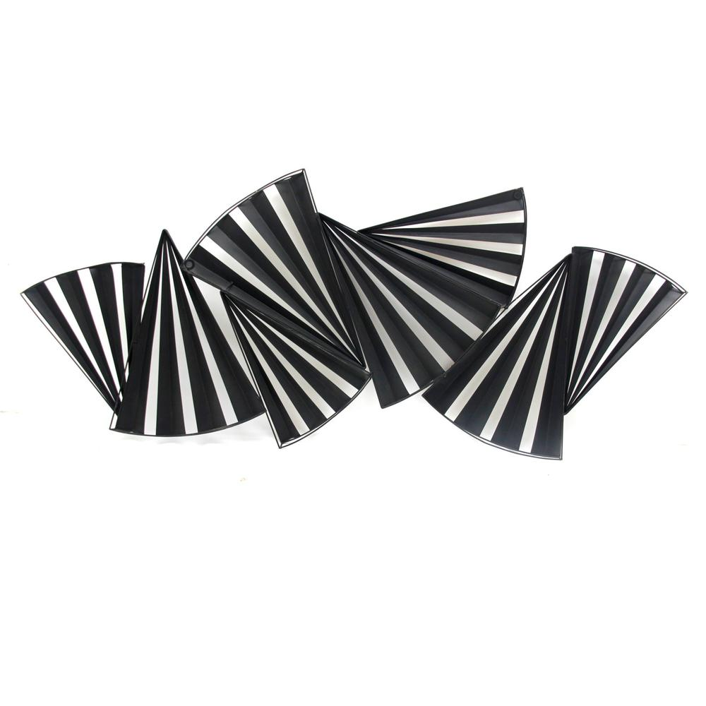 Modern Accordian Pleat Metal Wall Decor - 380771. Picture 5