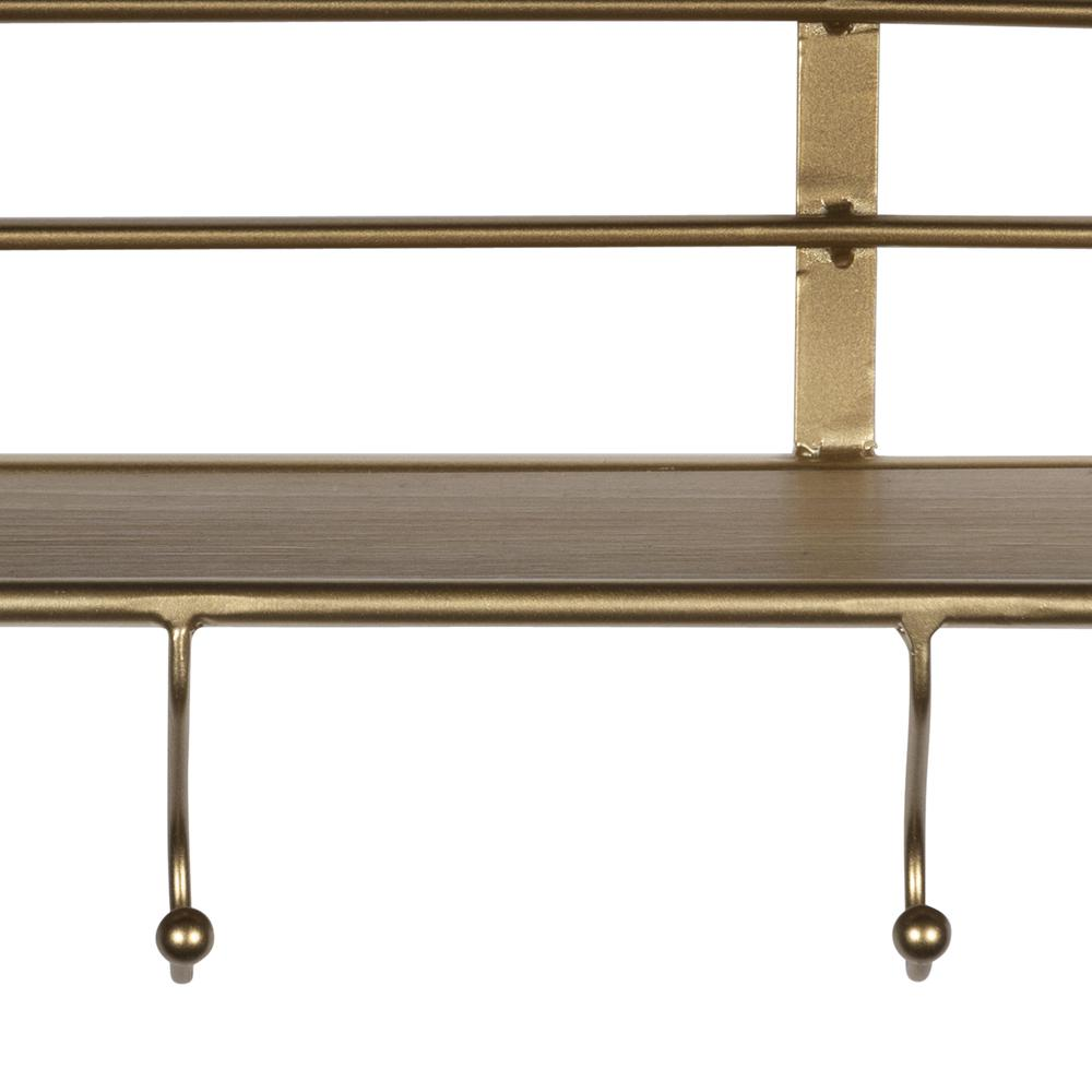 Golden Metal Shelf with Hooks - 380774. Picture 2