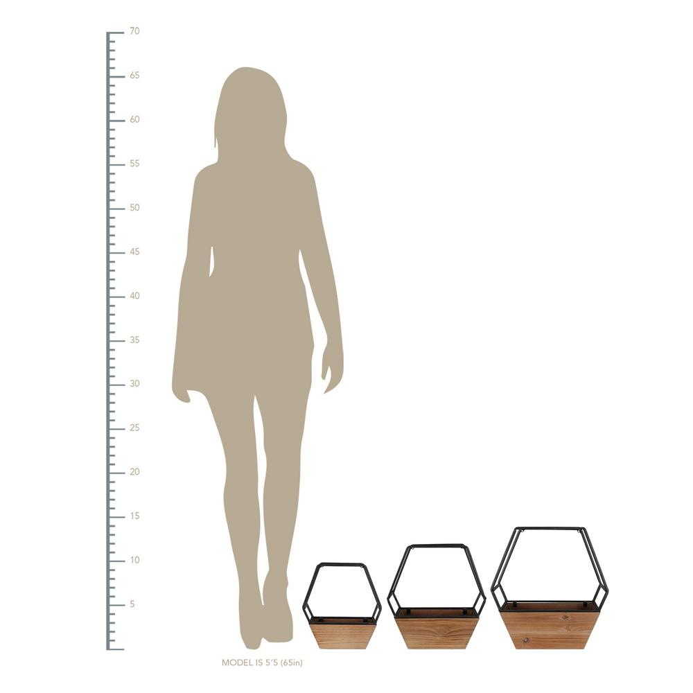 Set of 3 Boho Cool Hexagon Wall Planters - 380783. Picture 4