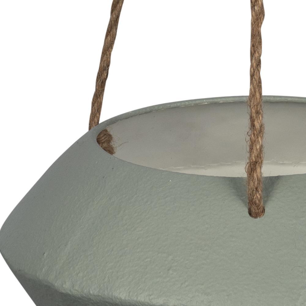 Grey Metal Hanging Rope Planter - 380792. Picture 3