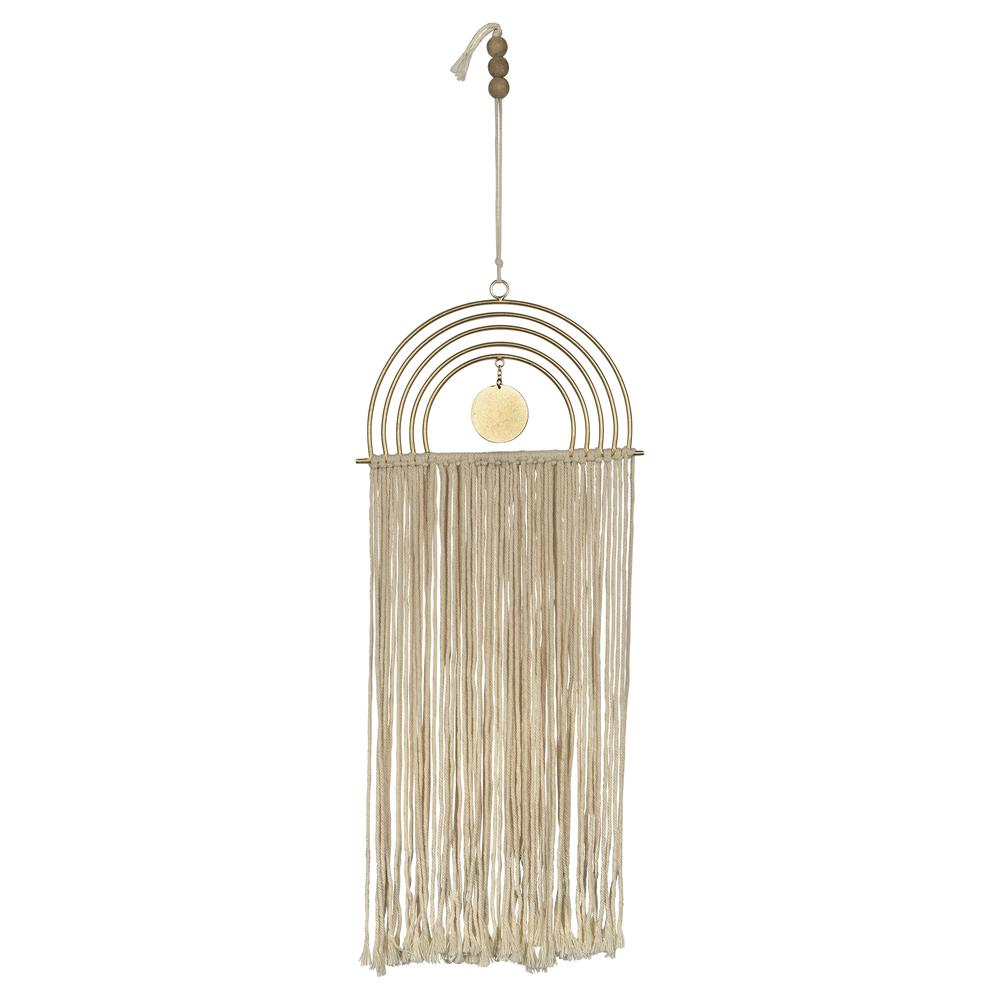 Gold Metal Rainbow Macrame Wall Decor - 380795. Picture 1