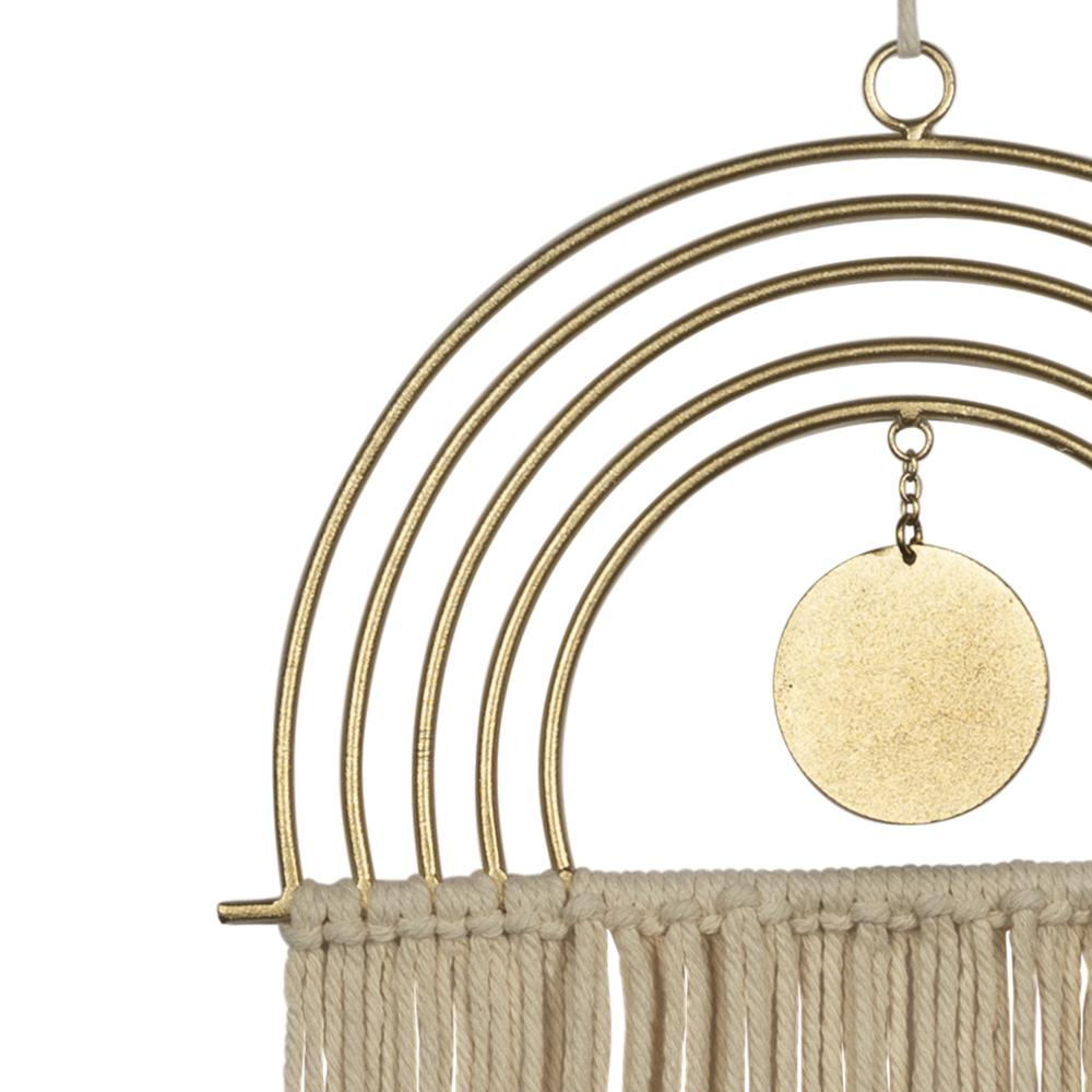 Gold Metal Rainbow Macrame Wall Decor - 380795. Picture 2