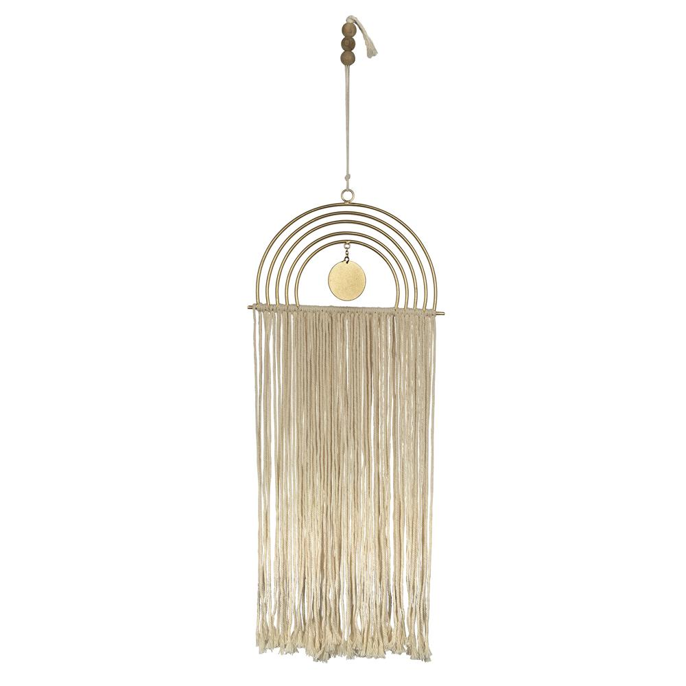 Gold Metal Rainbow Macrame Wall Decor - 380795. Picture 4