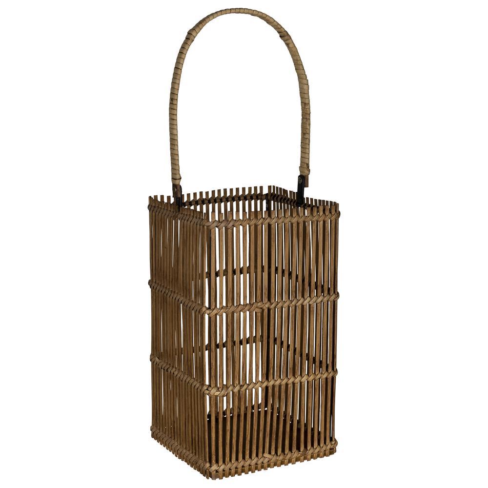 Natural Rattan Bamboo Wood Lantern - 380796. Picture 5