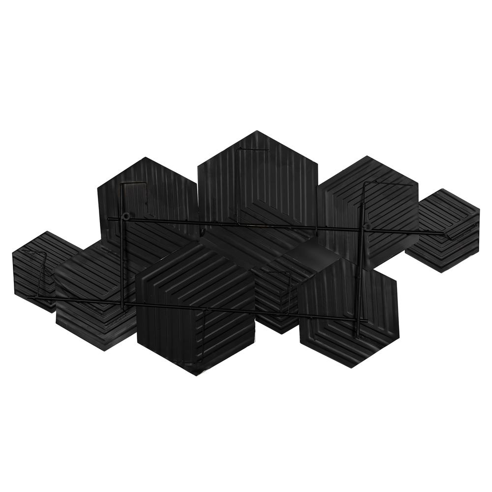 Contemporary Textured Hexagonal Metal Wall Decor - 380800. Picture 3