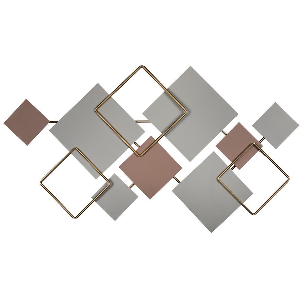 Modern Metallics Square Metal Wall Decor - 380802. Picture 1