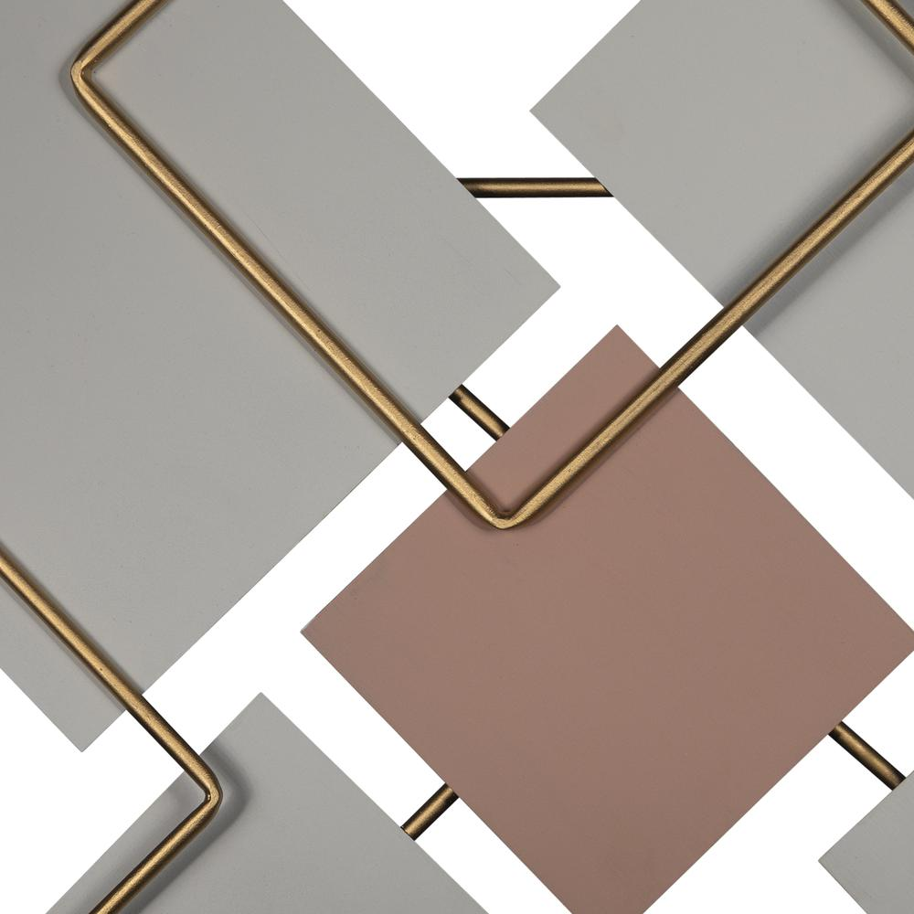 Modern Metallics Square Metal Wall Decor - 380802. Picture 2