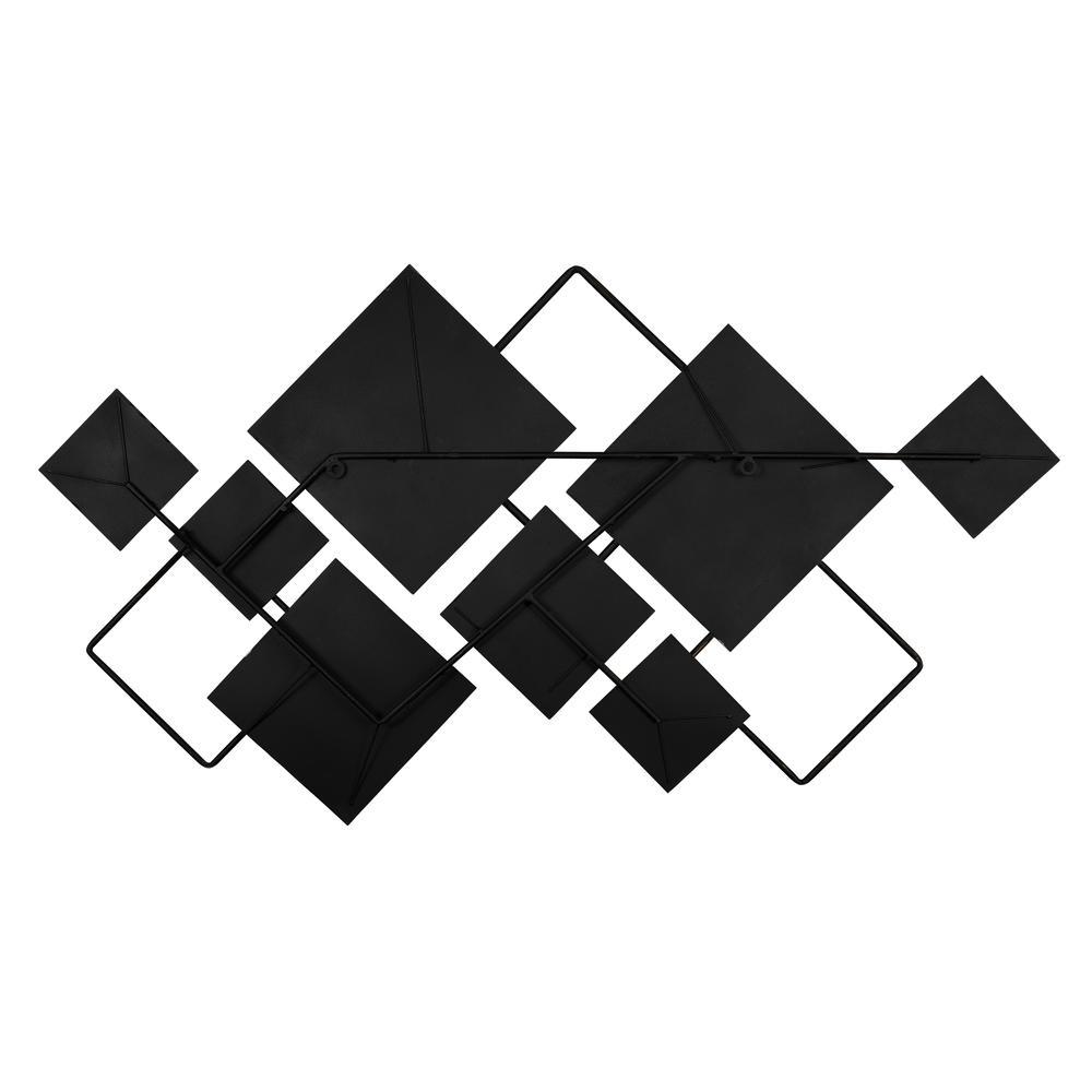 Modern Metallics Square Metal Wall Decor - 380802. Picture 4