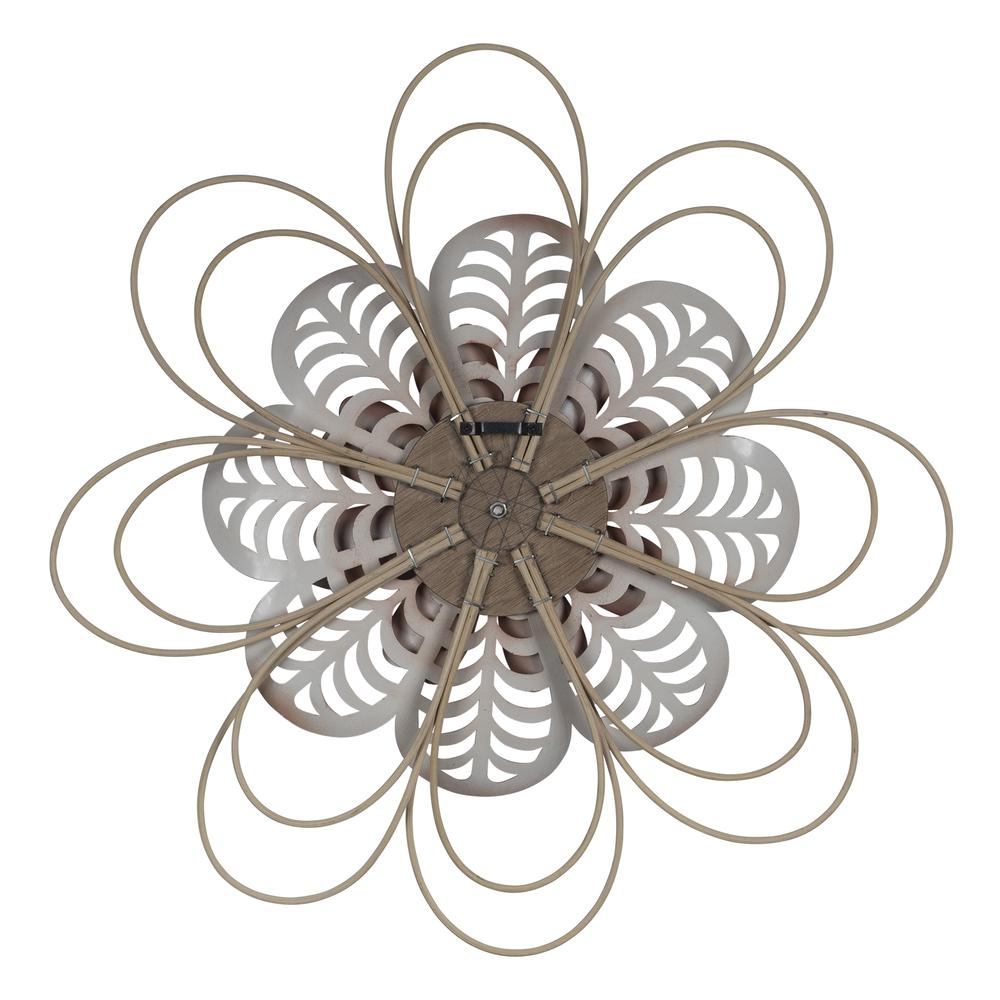 Deep Mauve Finish Metal Flower Wall Decor - 380804. Picture 4