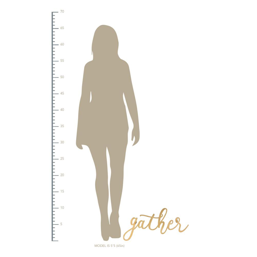 Gold Metal Gather Script Wall Decor - 380807. Picture 3