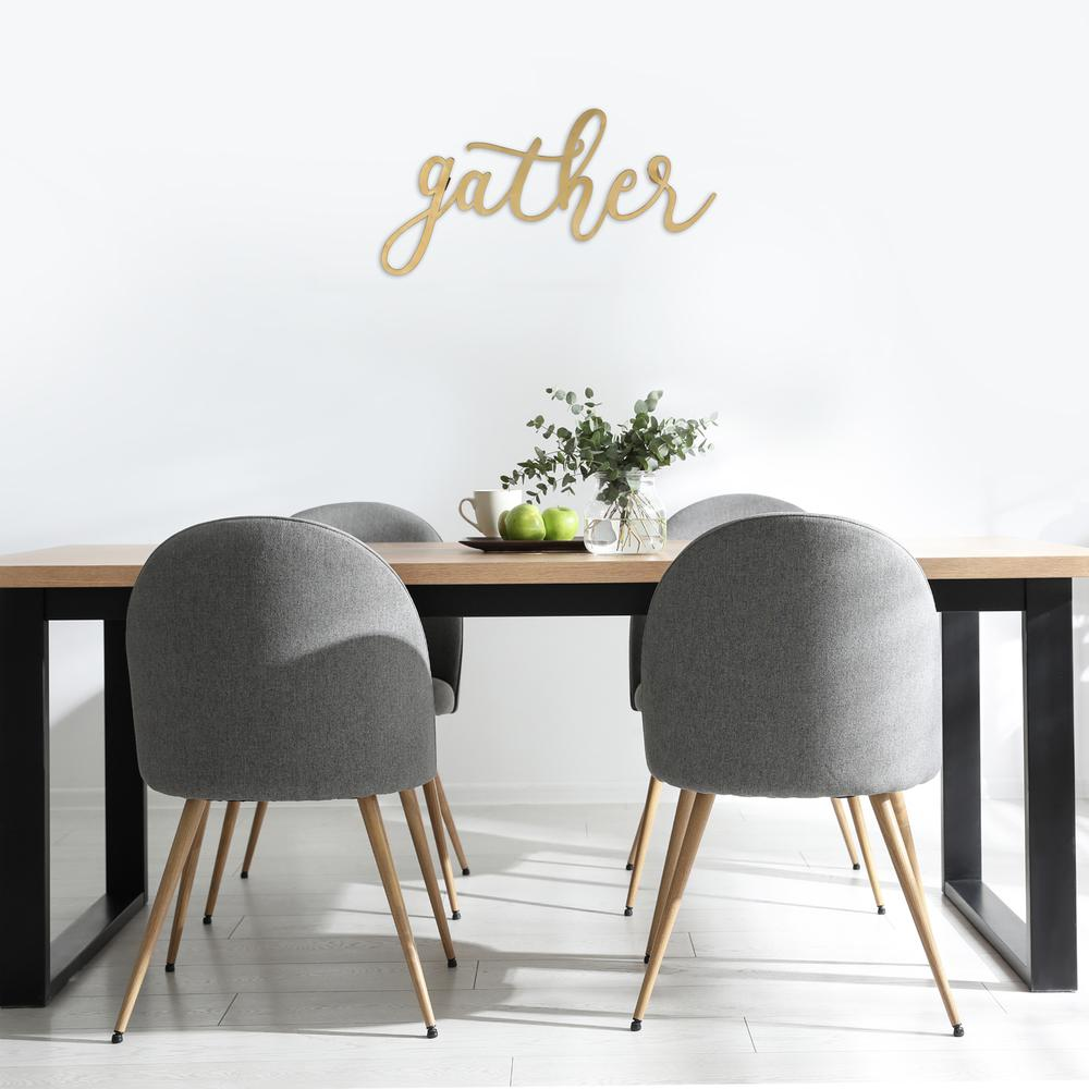 Gold Metal Gather Script Wall Decor - 380807. Picture 5