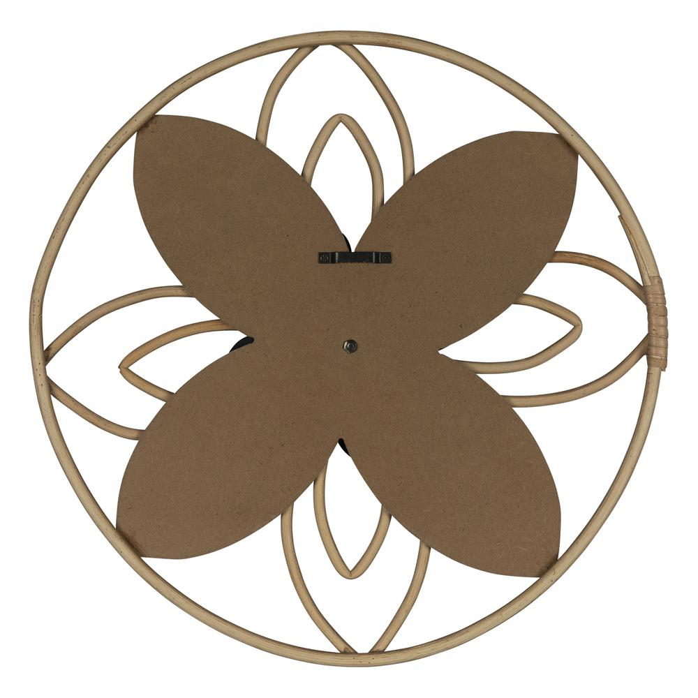 Grey and Pink Metal Flower Medallion Wall Decor - 380813. Picture 5