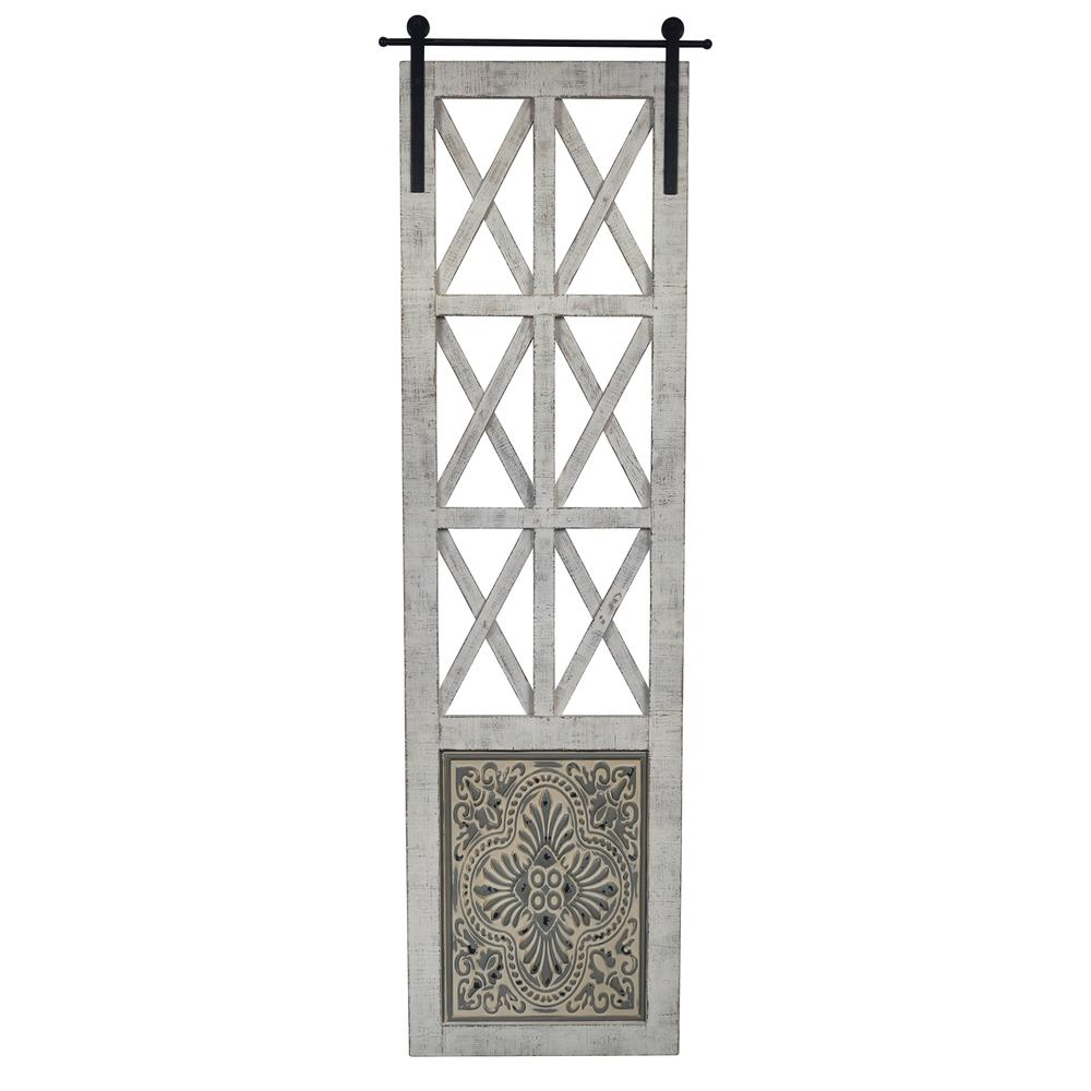 Distressed Full Length Door Panel Wall Decor - 380818. Picture 1