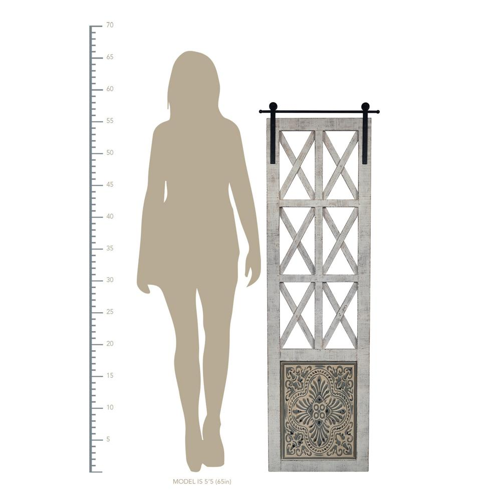 Distressed Full Length Door Panel Wall Decor - 380818. Picture 4