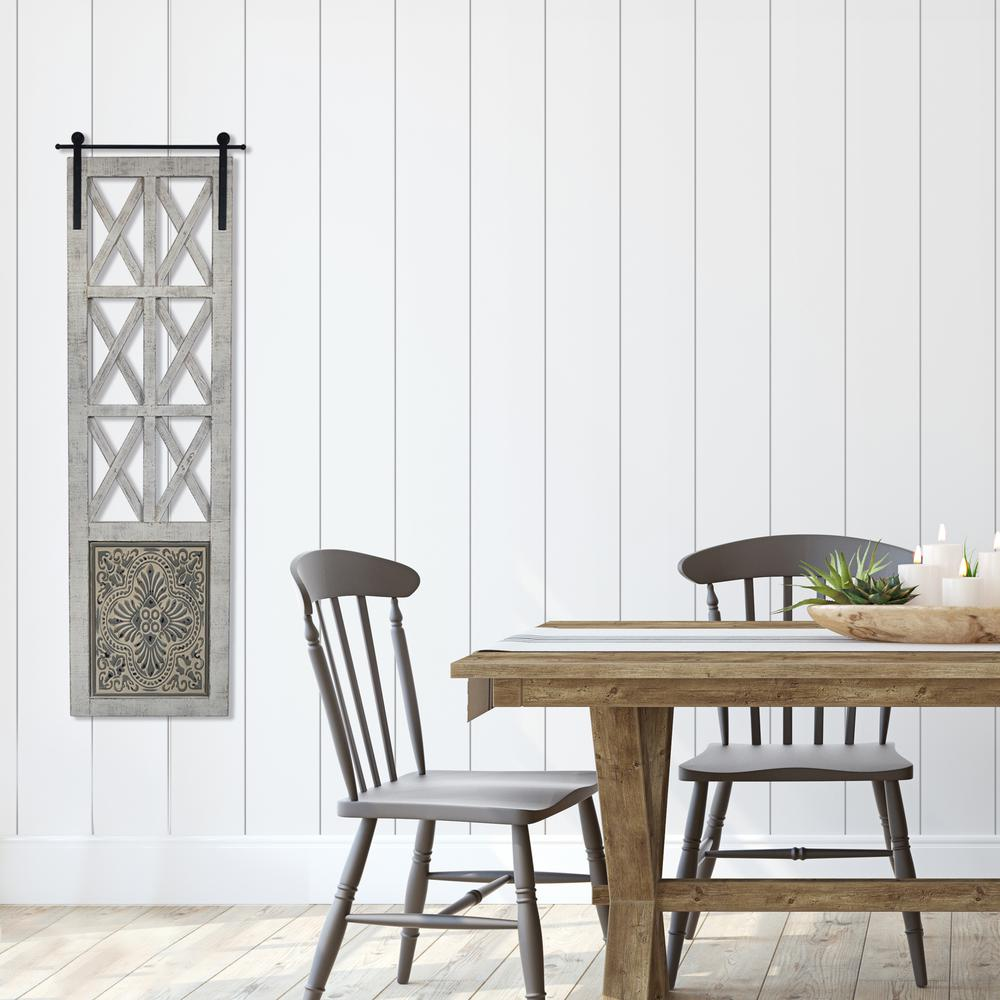 Distressed Full Length Door Panel Wall Decor - 380818. Picture 6