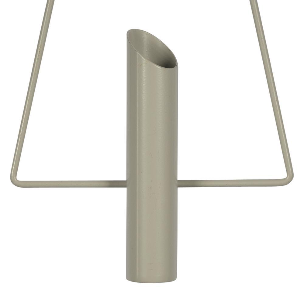 Gray Metal Triangular Planter Wall Decor - 380824. Picture 3