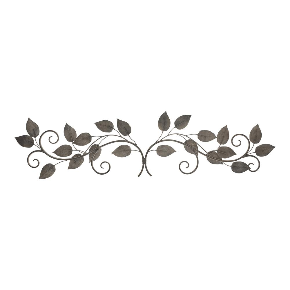 White and Bronze Metal Leaves Wall Décor - 380827. Picture 5