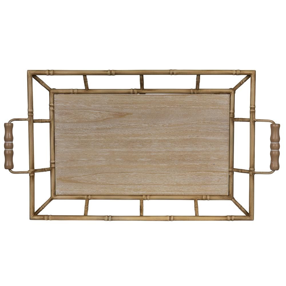 Tropical Wooden Bamboo Tray - 380831. Picture 1