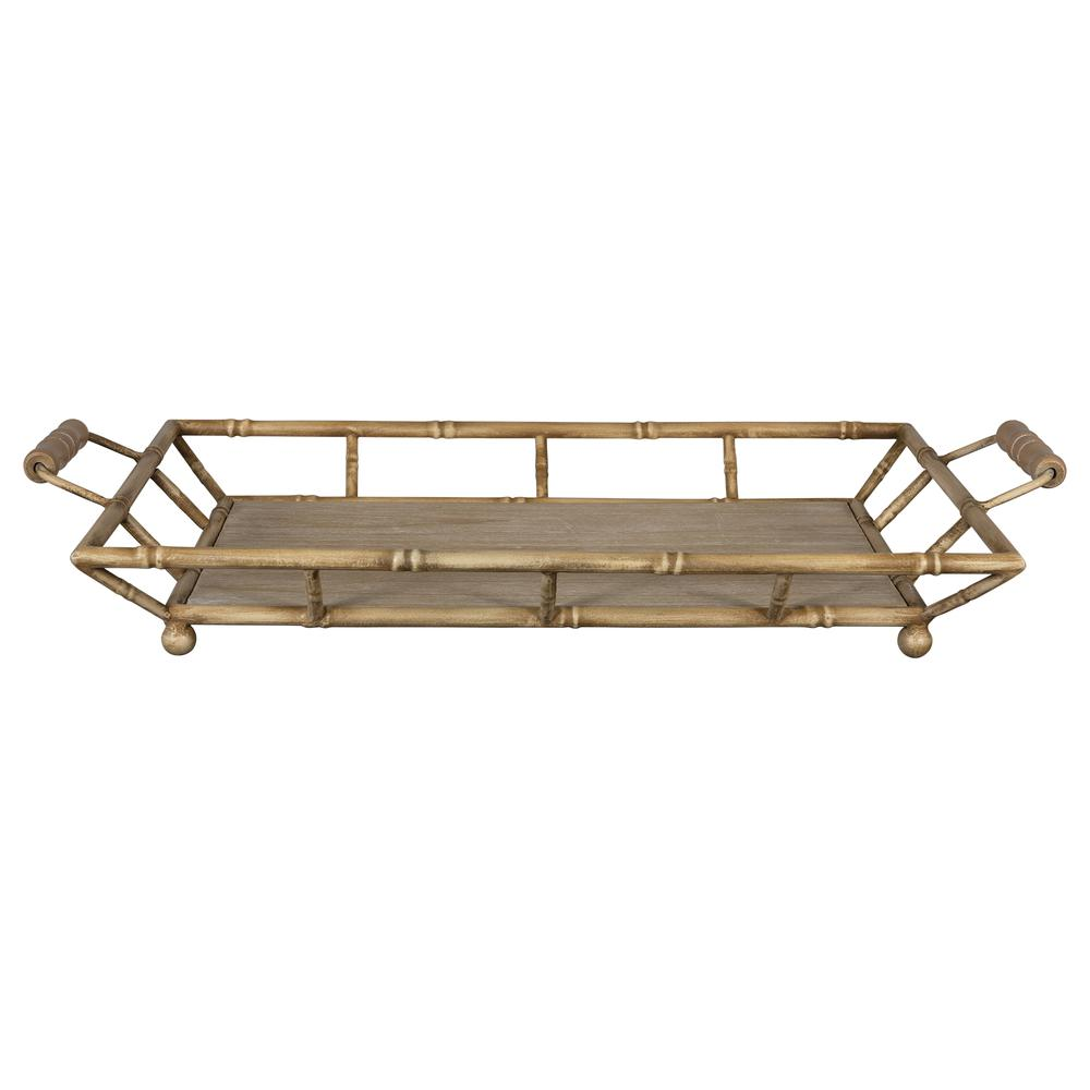 Tropical Wooden Bamboo Tray - 380831. Picture 4