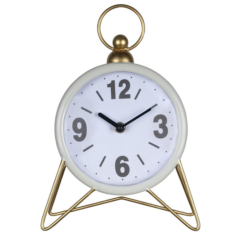 Gray Golden Triangle Desk Clock - 380832. Picture 1