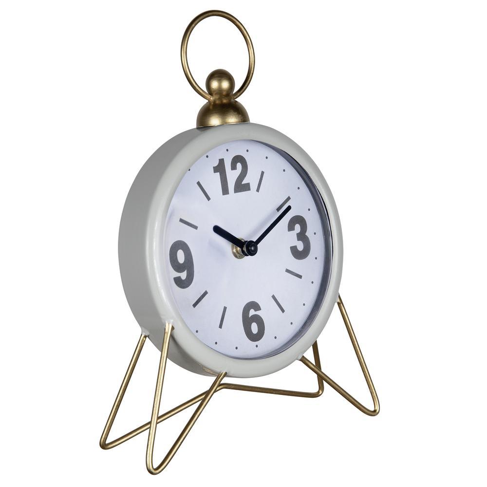 Gray Golden Triangle Desk Clock - 380832. Picture 5