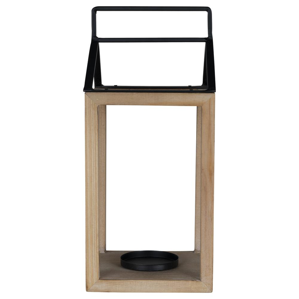 Open House Wood and Metal Lantern Candle Holder - 380834. Picture 2