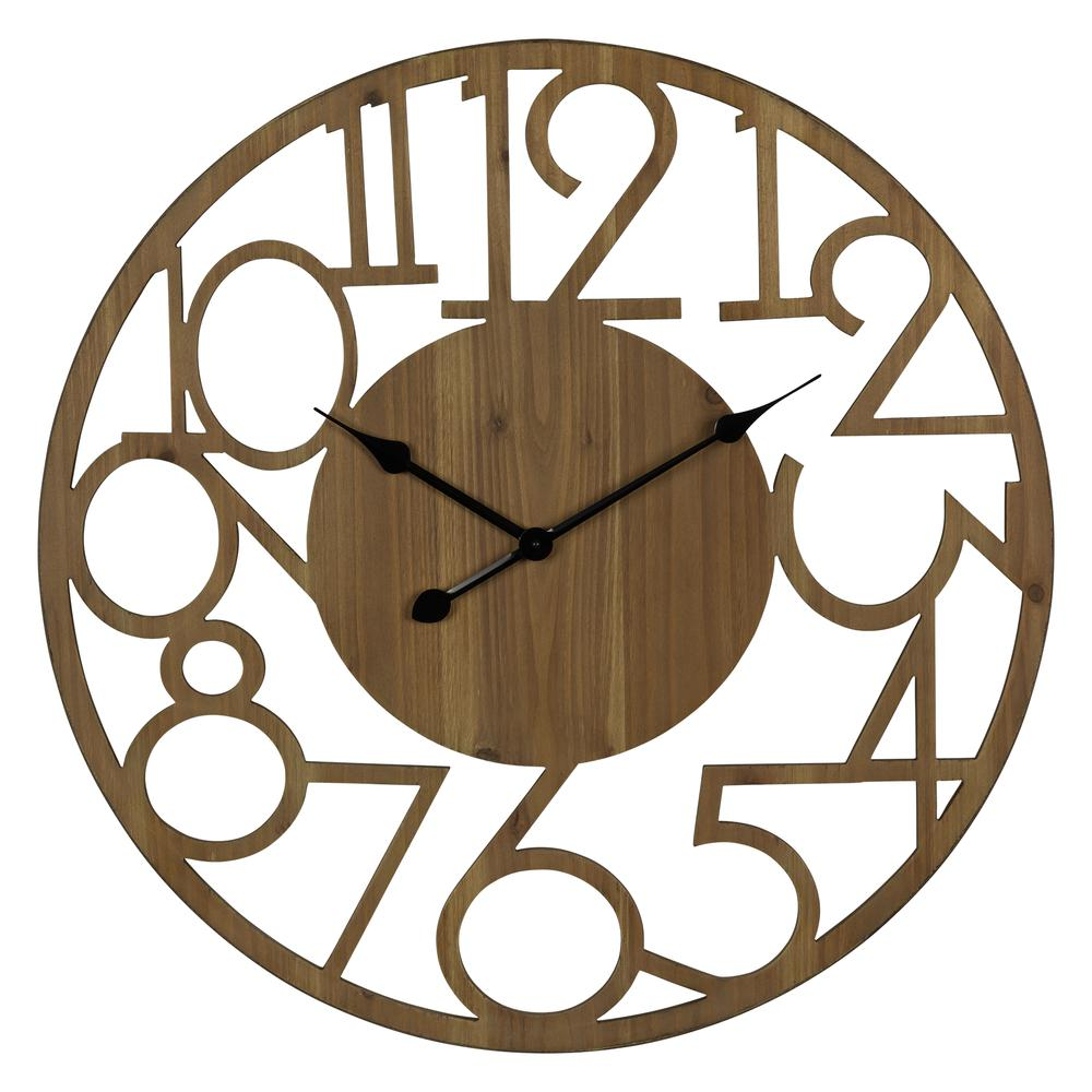 Hand Crafted Modern Natural Wood Wall Clock - 380840. Picture 1