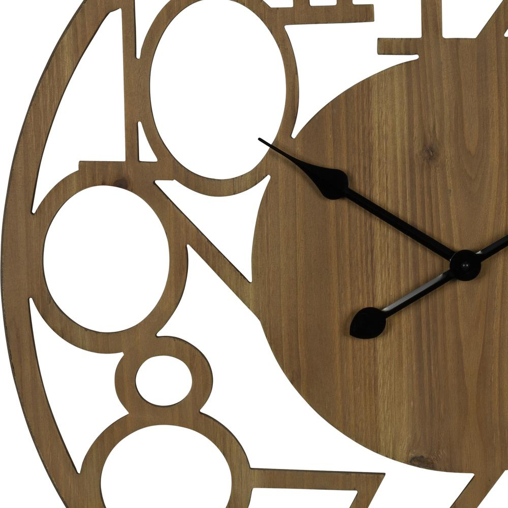 Hand Crafted Modern Natural Wood Wall Clock - 380840. Picture 2