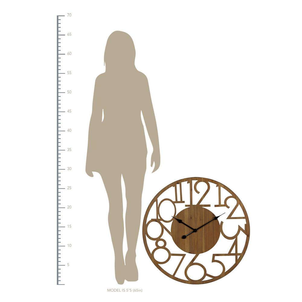 Hand Crafted Modern Natural Wood Wall Clock - 380840. Picture 3