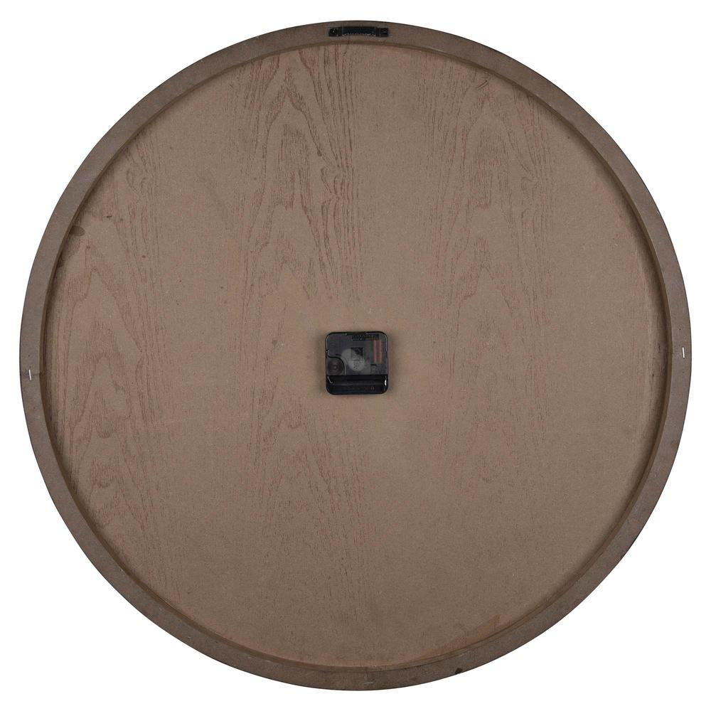 Classy Dark Stain Gold and Wood Wall Clock - 380841. Picture 5