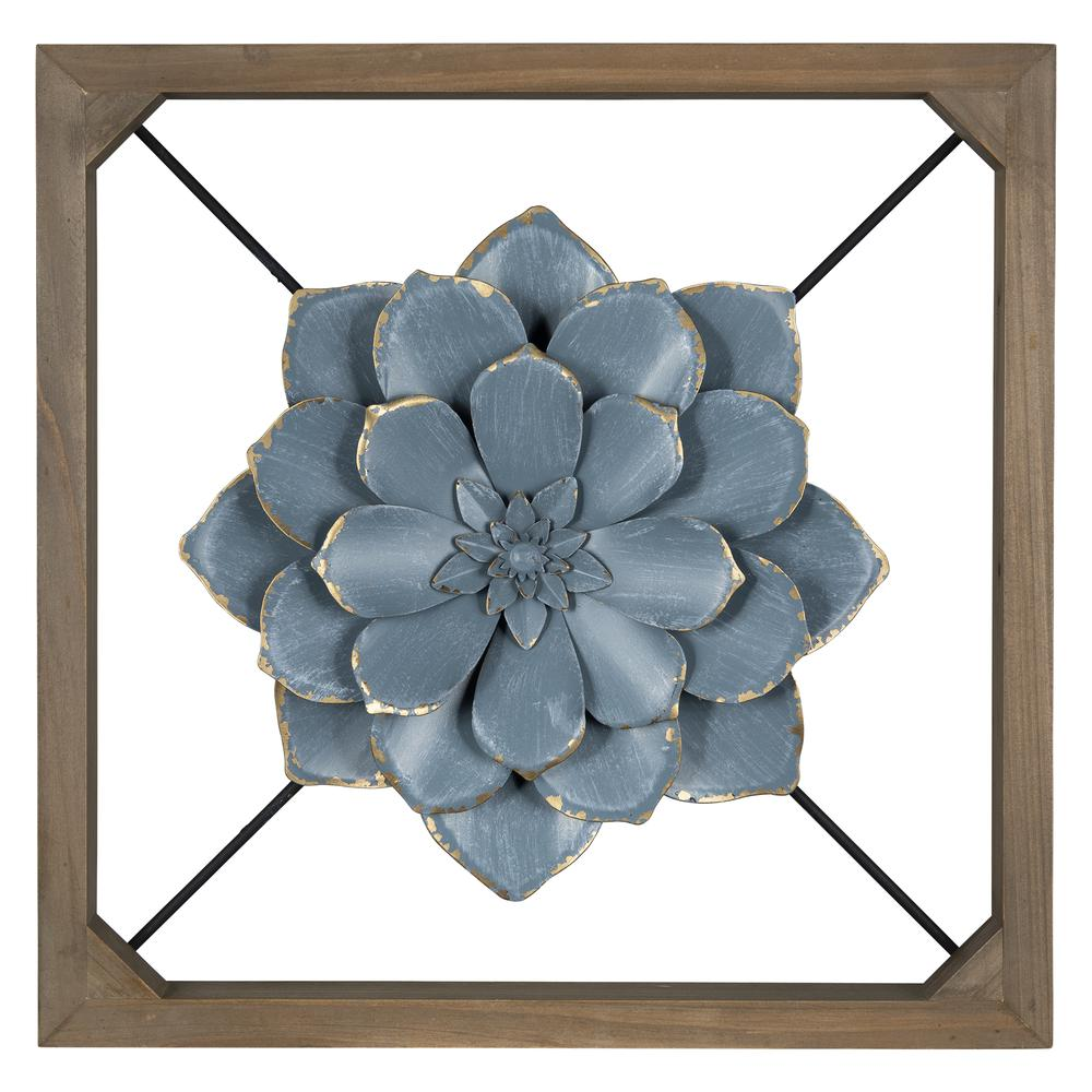 Blue Flower Full Bloom Wall Décor - 380842. Picture 1