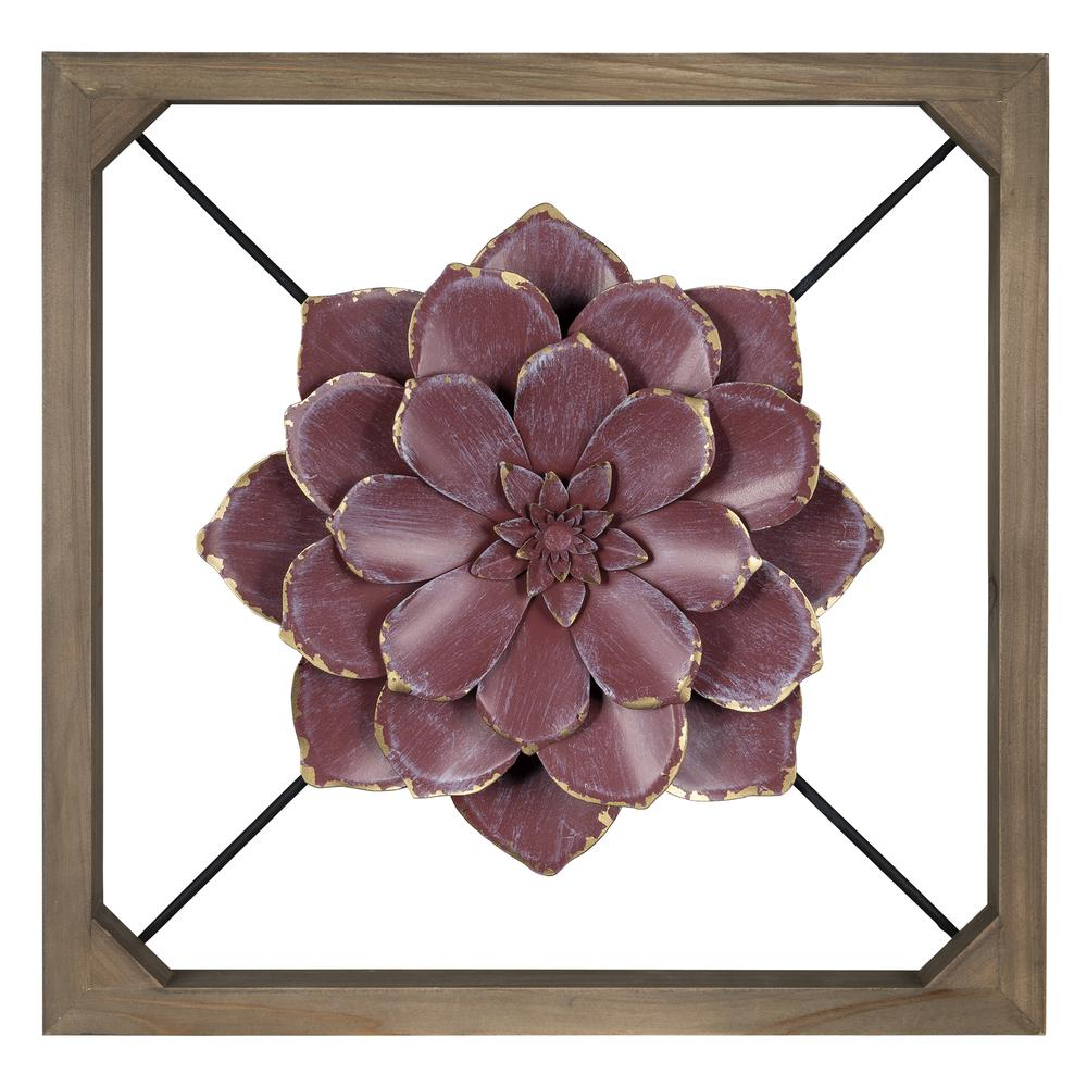 Maroon Flower Full Bloom Wall Décor - 380843. Picture 1