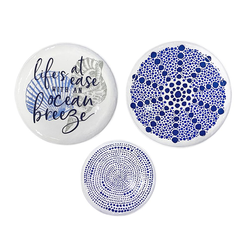 Set of 3 Life's a Breeze Metal Plates Wall Décor - 380844. Picture 1