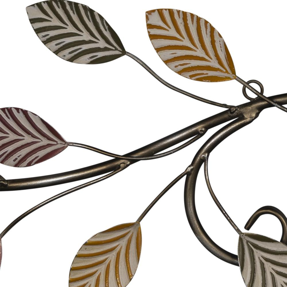 Warm Scrolling Metal Leaves Over Door Wall Decor - 380847. Picture 2