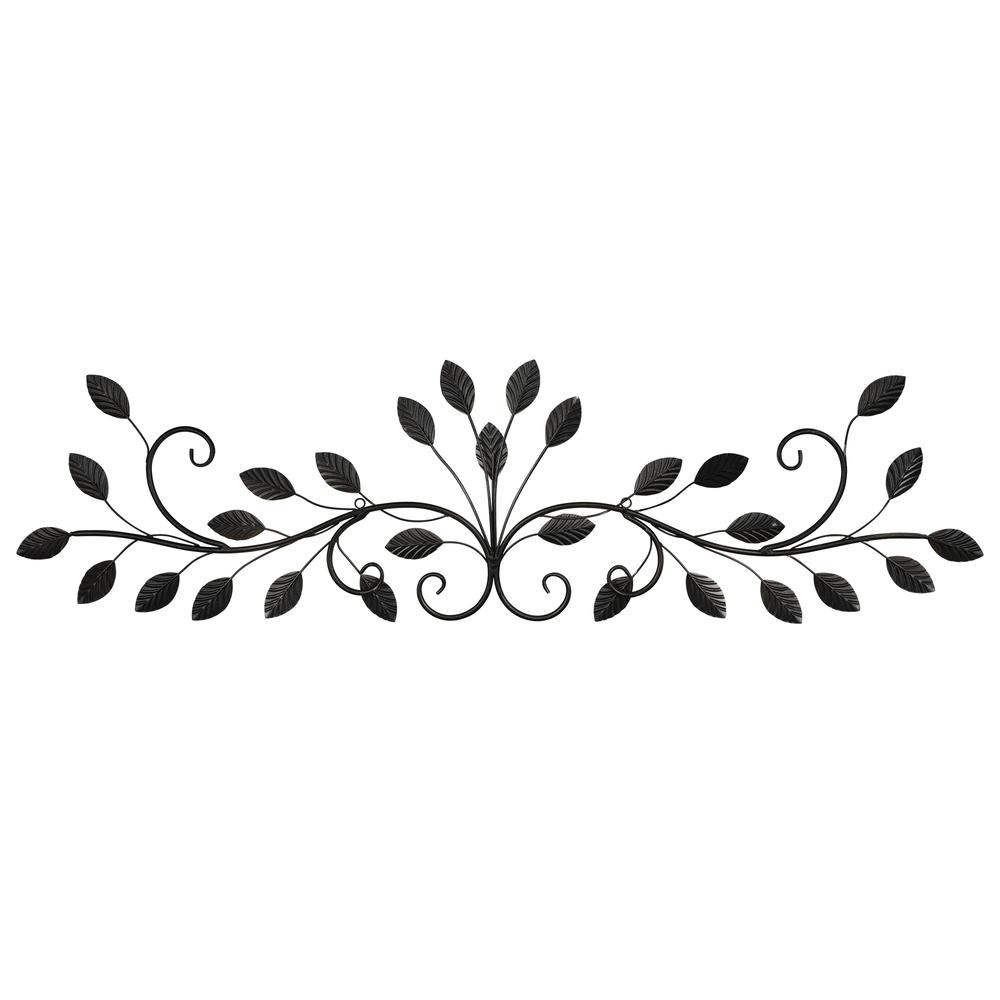 Warm Scrolling Metal Leaves Over Door Wall Decor - 380847. Picture 4