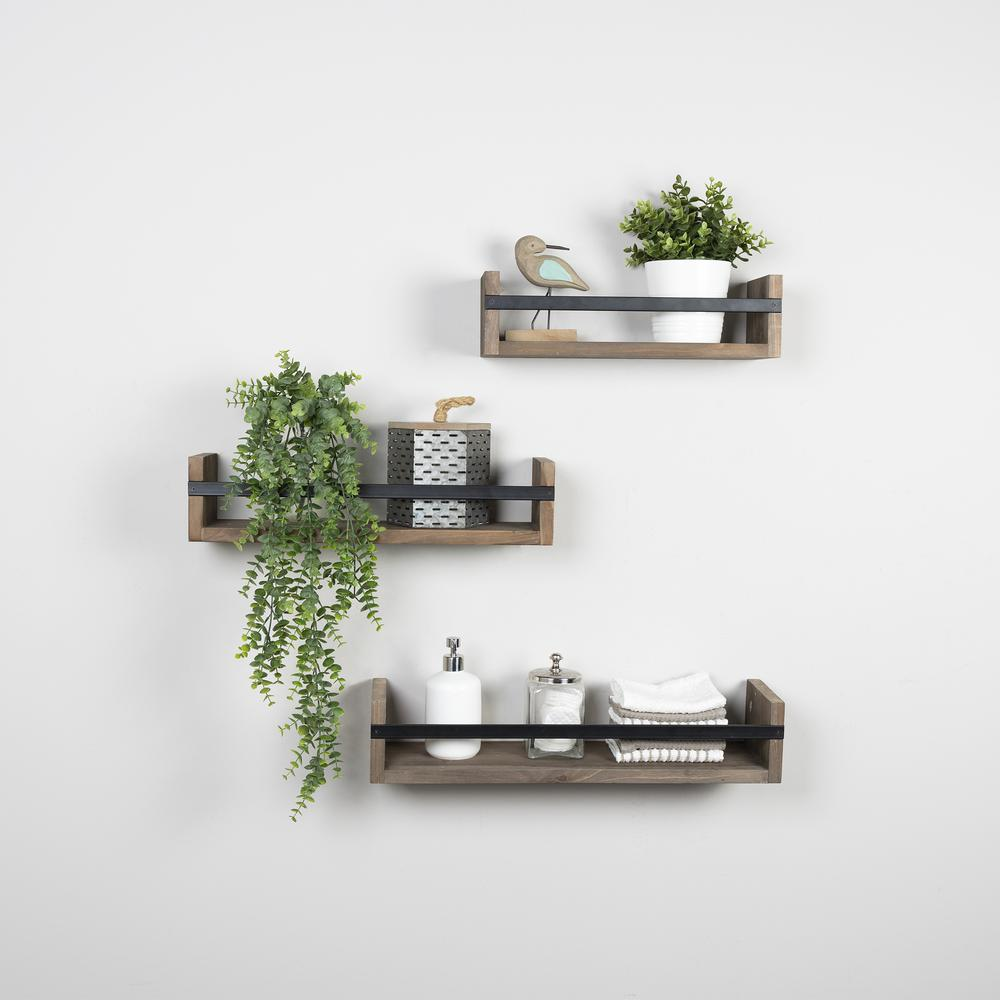 Set of 3 Rustic  Floating Shelves - 380848. Picture 2