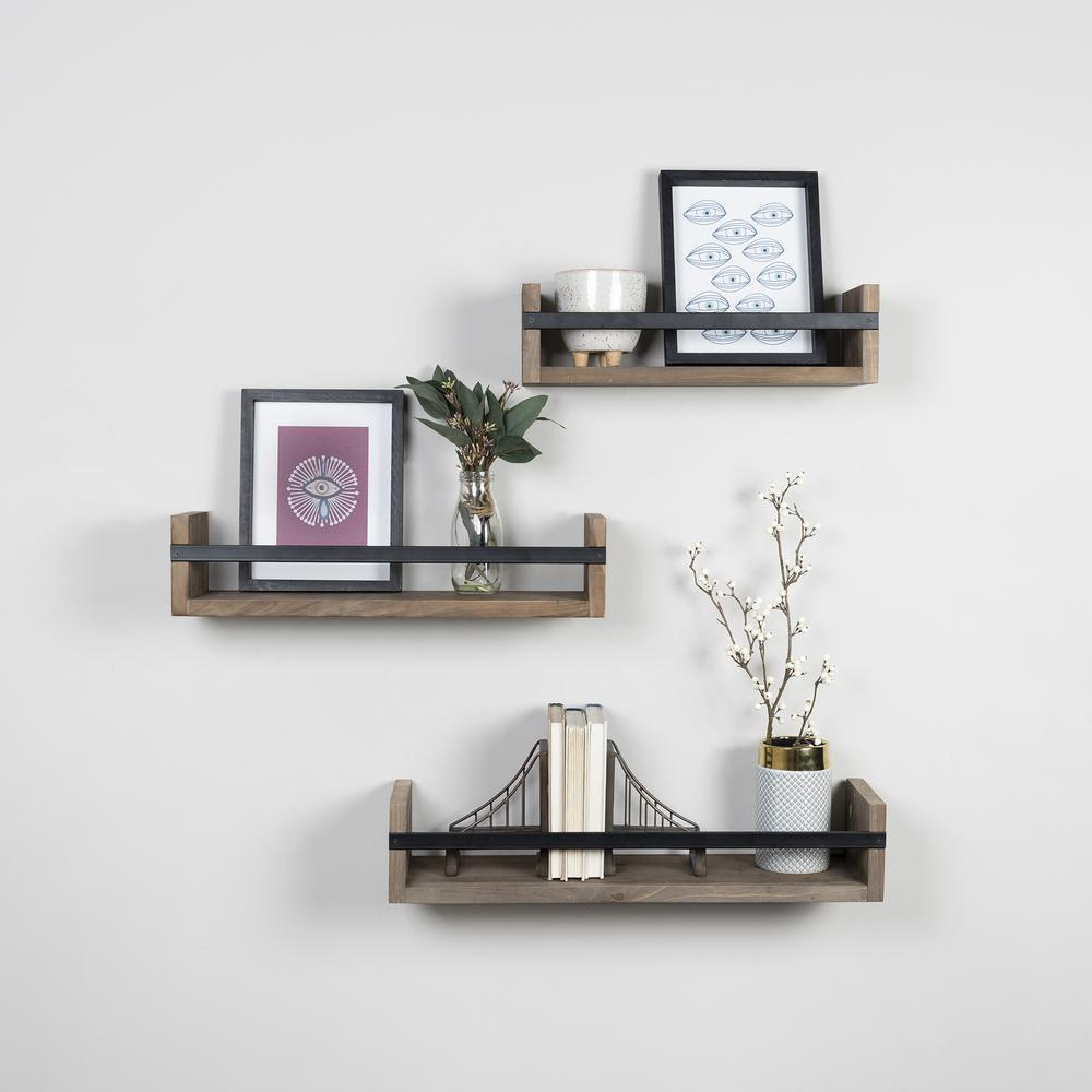 Set of 3 Rustic  Floating Shelves - 380848. Picture 6