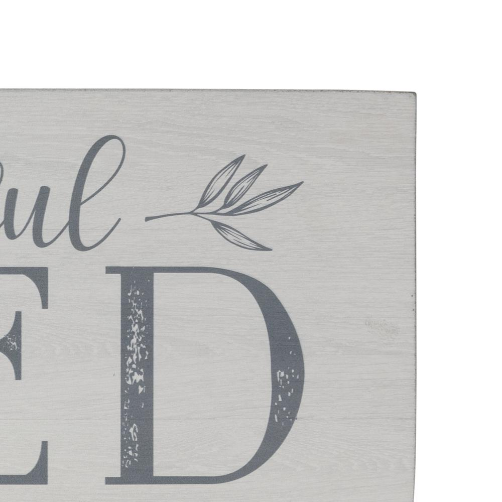 Gray and White Grateful Thankful Blessed Wall Art - 380849. Picture 2