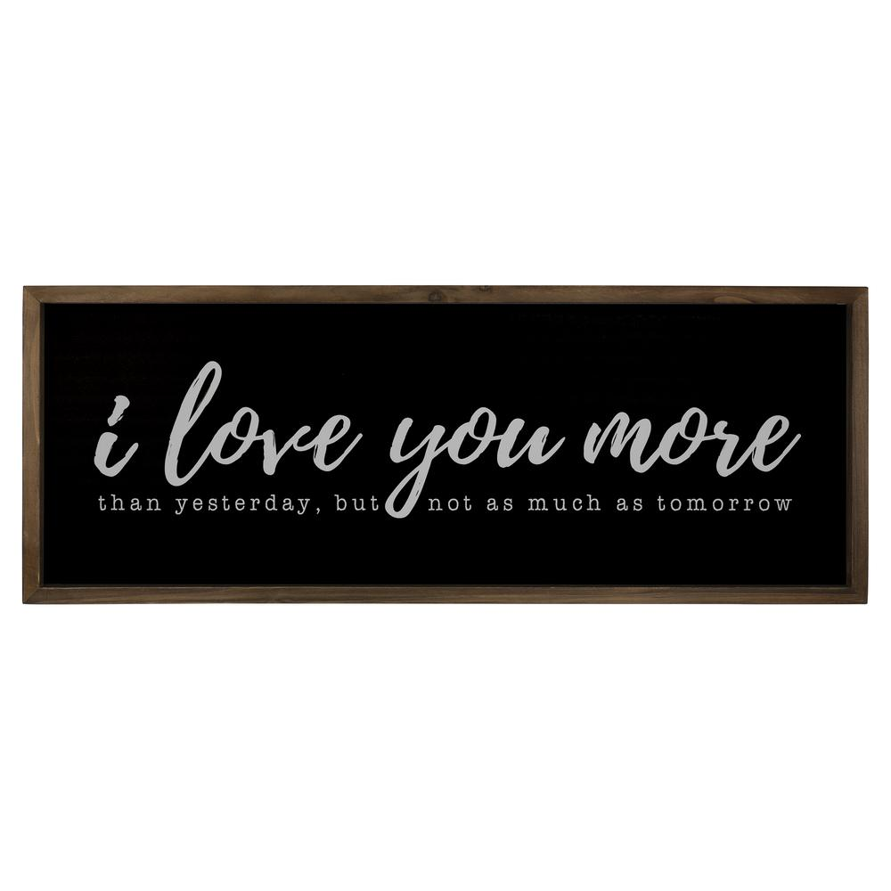 Black And White I Love You More Wall Art - 380852. Picture 1
