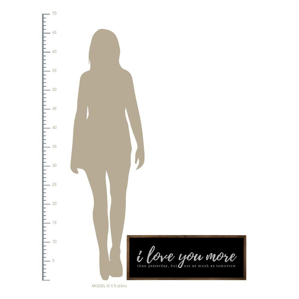 Black And White I Love You More Wall Art - 380852. Picture 3