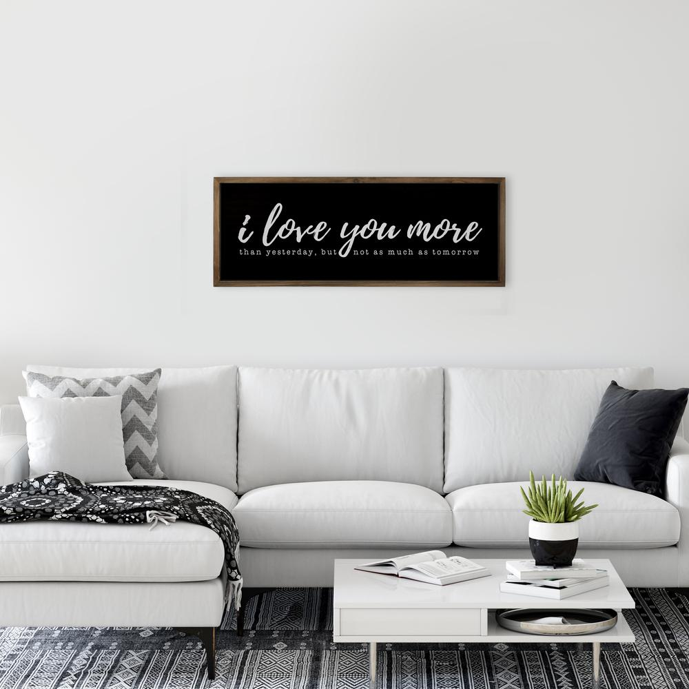 Black And White I Love You More Wall Art - 380852. Picture 5