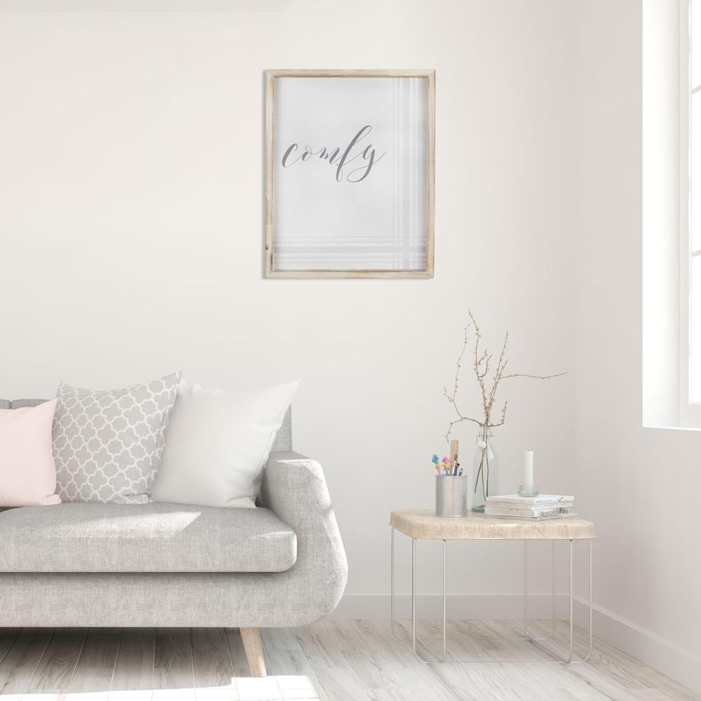 Neutral Tones Comfy Natural Wood Framed Wall Art - 380853. Picture 1