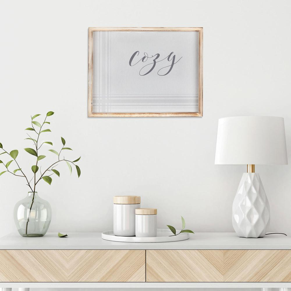 Neutral Tones Cozy Natural Wood Framed Wall Art - 380854. Picture 1