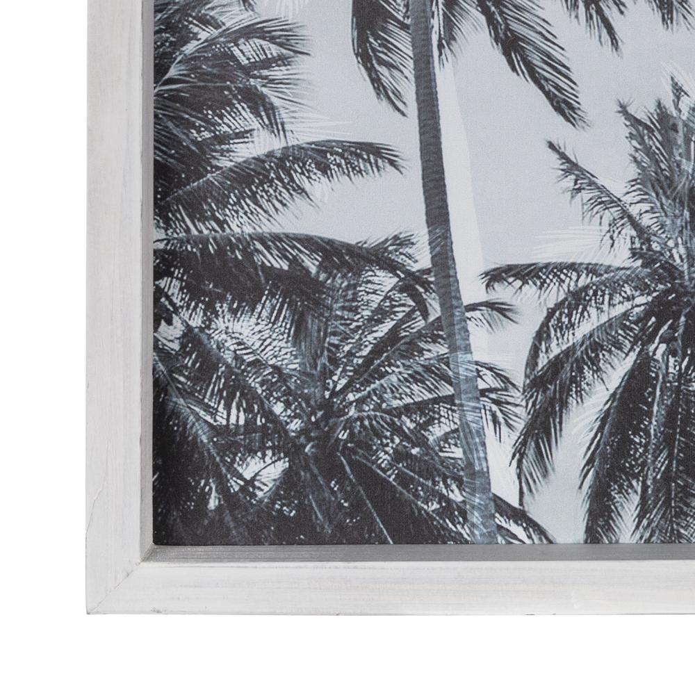 Multie Palm Trees White Wood Framed Wall Art - 380857. Picture 2