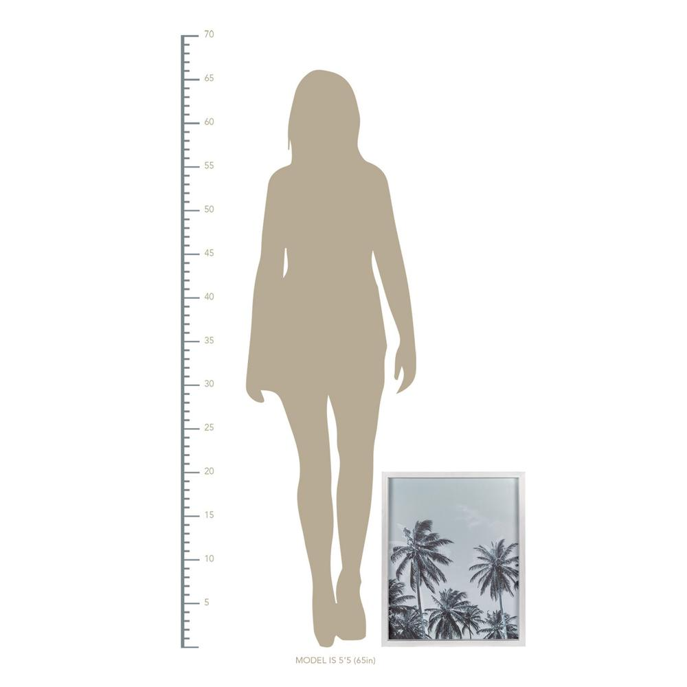 Multie Palm Trees White Wood Framed Wall Art - 380857. Picture 3