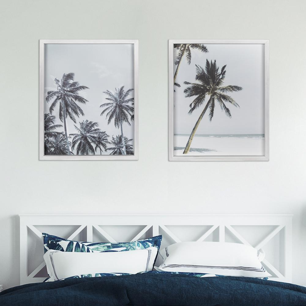 Multie Palm Trees White Wood Framed Wall Art - 380857. Picture 4