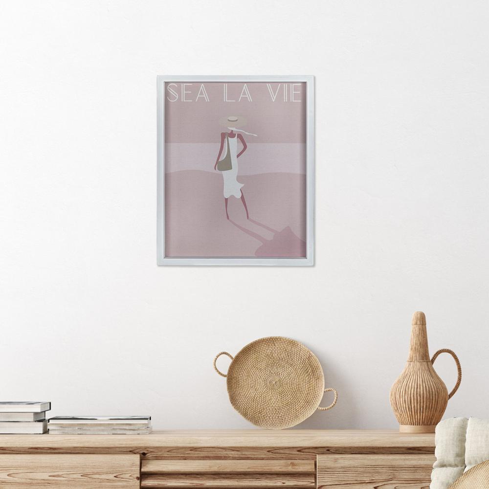 Sea La Vie White Framed Wall Art - 380860. Picture 5